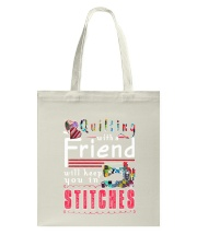 QUILTING with a friend Tote Bag thumbnail