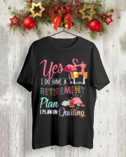 Quilting Plan Classic T-Shirt lifestyle-holiday-crewneck-front-2