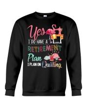 Quilting Plan Crewneck Sweatshirt thumbnail