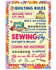 Quiting Rules 16x24 Poster front