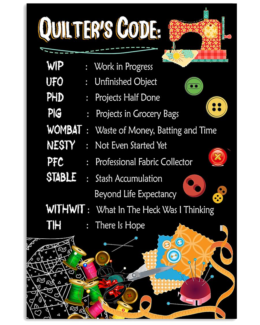 Quilter's code 16x24 Poster