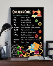 Quilter's code 16x24 Poster lifestyle-poster-2
