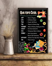 Quilter's code 16x24 Poster lifestyle-poster-3