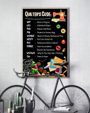 Quilter's code 16x24 Poster lifestyle-poster-7