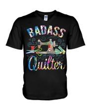 Quilting Badass V-Neck T-Shirt thumbnail