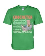 CROCHETING V-Neck T-Shirt thumbnail