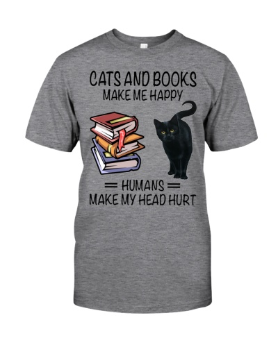 CAT'S AND BOOKS MAKE ME HAPPY
