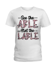 See The Able Not The Lable Ladies T-Shirt tile