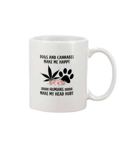 Dogs and cannabis make me happy