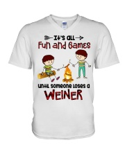 Its All Fun And Games  V-Neck T-Shirt thumbnail