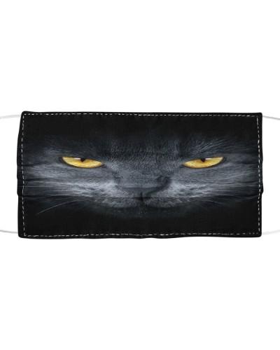 Cute Tongue Black Cat Face Mask Cloth