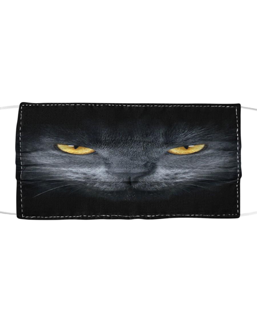 Cute Tongue Black Cat Face Mask Cloth Cloth face mask