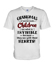 Grandmas of special needs children V-Neck T-Shirt thumbnail