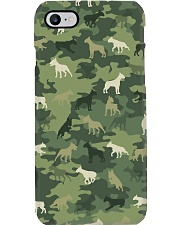 Bull Terrier Camo Phone Case tile