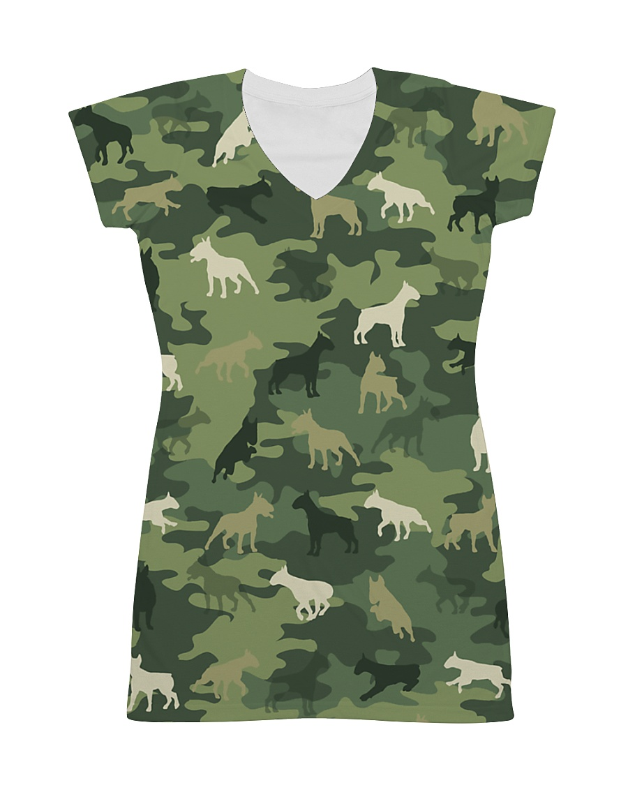 Bull Terrier Camo All-over Dress