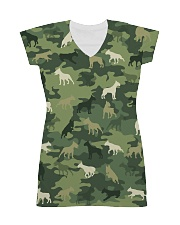 Bull Terrier Camo All-over Dress front
