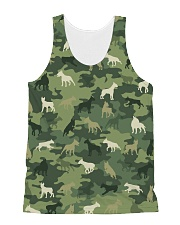 Bull Terrier Camo All-Over Unisex Tank tile