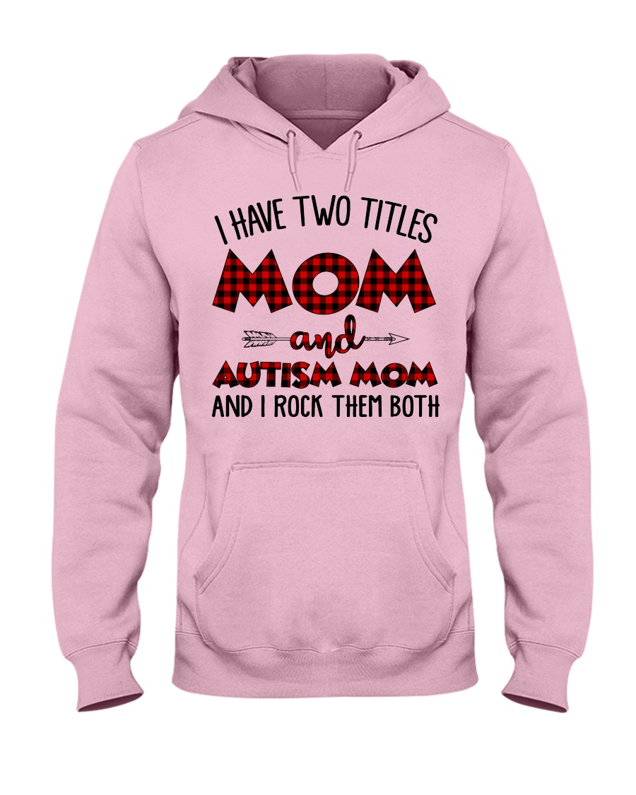 Mom And Autism Mom Hooded Sweatshirt