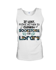 If Lost Please Return To Closest Bookstore Unisex Tank thumbnail