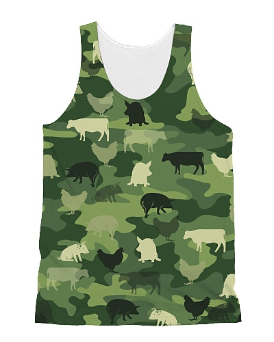 Farmer shirt Cow Chicken Pig Camo