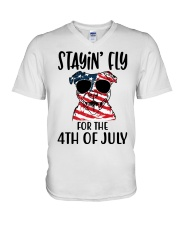 Staying FLy V-Neck T-Shirt tile