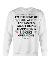 library overnight Crewneck Sweatshirt front