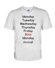 Blink Teacher Life V-Neck T-Shirt thumbnail