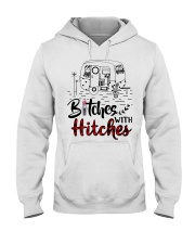 Bitches With Hitches Camping Hooded Sweatshirt thumbnail