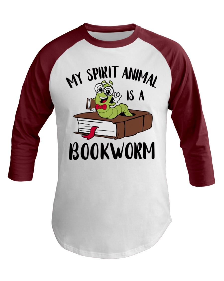 My Spirit Animal Is A Bookworm Baseball Tee