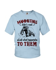 mammuthus didn't read Youth T-Shirt thumbnail