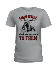 mammuthus didn't read Ladies T-Shirt tile