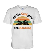 All the cool girls are reading V-Neck T-Shirt tile