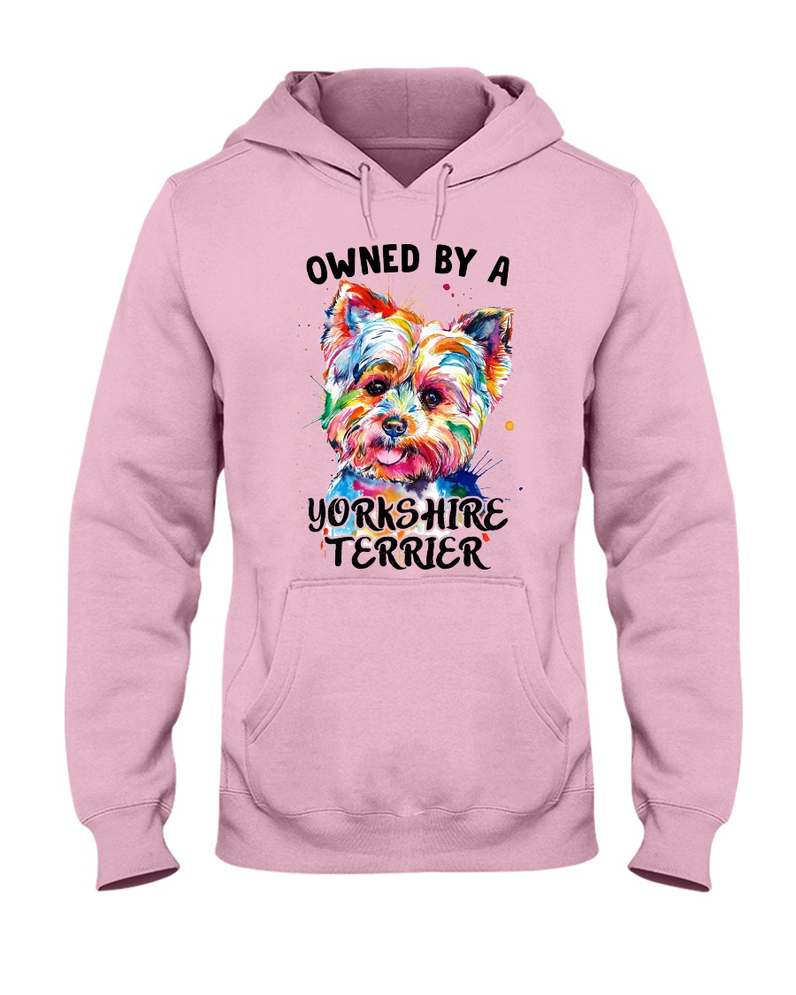 Owned by a Yorkshire Terrier Hooded Sweatshirt