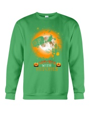 Witches with hitches camping halloween Crewneck Sweatshirt tile