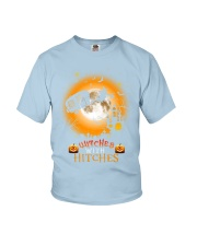 Witches with hitches camping halloween Youth T-Shirt tile