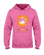 Witches with hitches camping halloween Hooded Sweatshirt tile