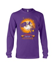 Witches with hitches camping halloween Long Sleeve Tee tile