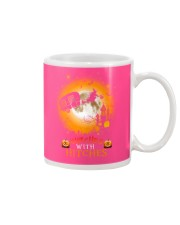 Witches with hitches camping halloween Mug tile