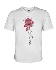 Faith Breast Cancer V-Neck T-Shirt thumbnail