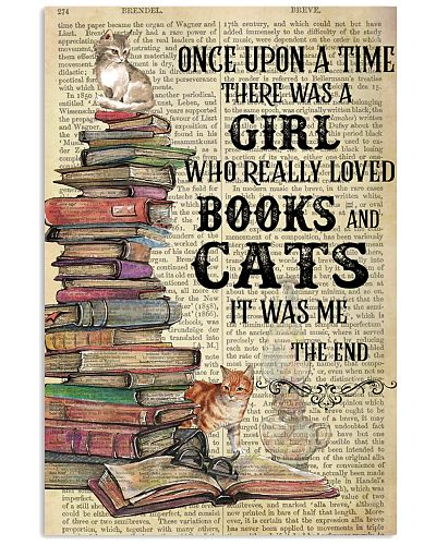Books Cats Once Upon A Time Vertical Poster