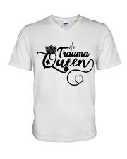 Trauma Queen V-Neck T-Shirt thumbnail