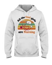 Cool Girls Are Nursing Hooded Sweatshirt thumbnail