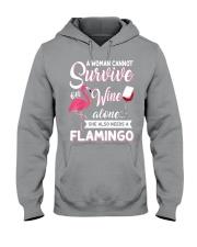 Flamingo Shirt Hooded Sweatshirt thumbnail