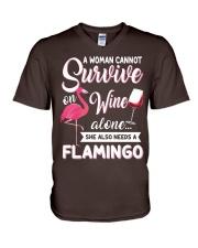Flamingo Shirt V-Neck T-Shirt thumbnail