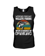 Walleye Fishing With A Chance Of Drinking Unisex Tank thumbnail