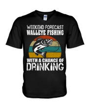Walleye Fishing With A Chance Of Drinking V-Neck T-Shirt thumbnail