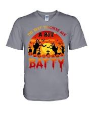 The Best Teachers Are Batty V-Neck T-Shirt thumbnail