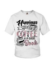Happiness Is A Cup Of Coffee Youth T-Shirt tile
