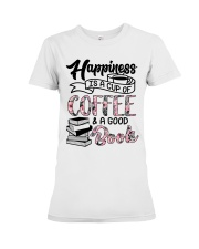 Happiness Is A Cup Of Coffee Premium Fit Ladies Tee tile