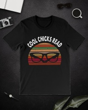Cool chicks read  Classic T-Shirt lifestyle-mens-crewneck-front-16